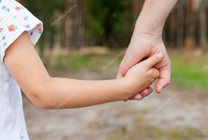 Parent and Child, Hand in Hand